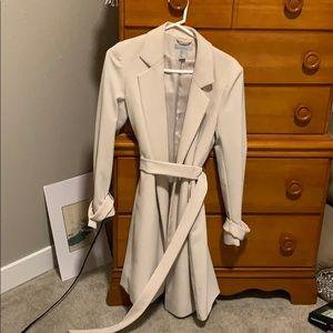 H&M Tan wrap trench coat sz. 6